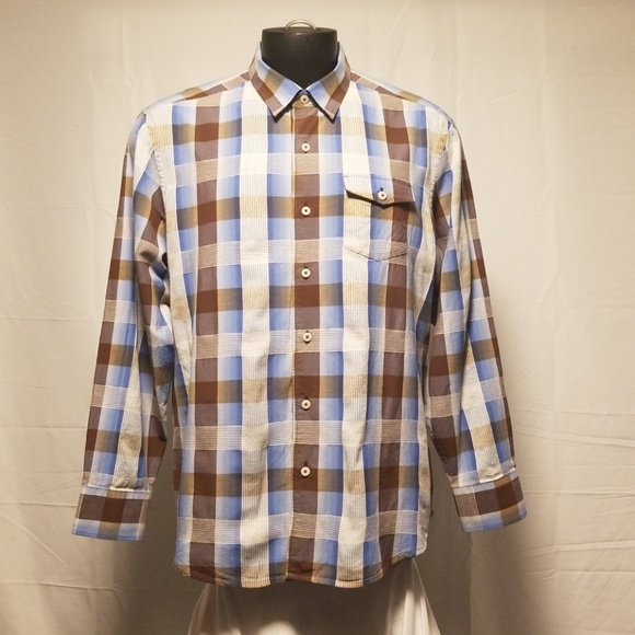 Tommy Bahama Other - Tommy bahama Mens Shirt Plaid Button Front XL